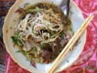 Pho noodles at the Luang Prabang Morning Market are sweet to eat.